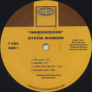 Stevie Wonder / Innervisions label