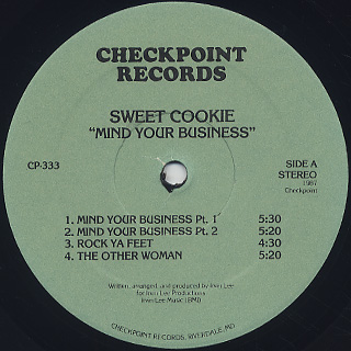Sweet Cookie / Mind Your Business label