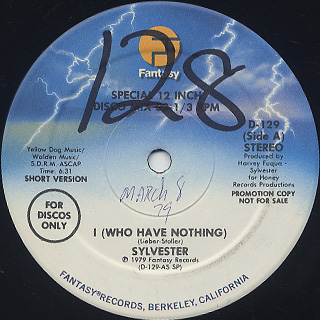 Sylvester / I (Who Have Nothing) back
