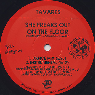 Tavares / She Freaks Out On The Floor label