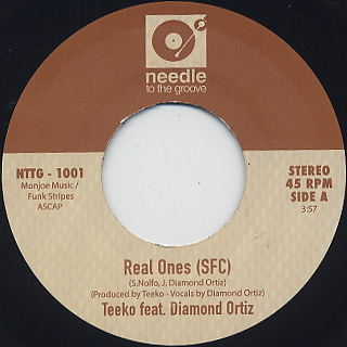Teeko feat. Diamond Ortiz / Real Ones (SFC) label