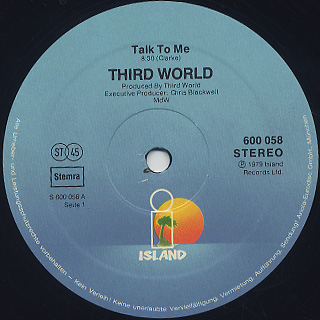 Third World / Talk To Me back