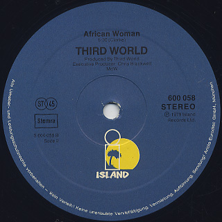 Third World / Talk To Me label