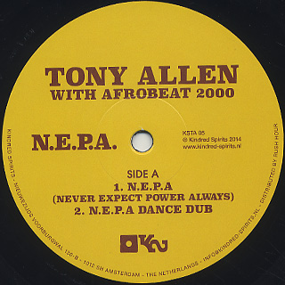 Tony Allen with Afrobeat 2000 / N.E.P.A. label