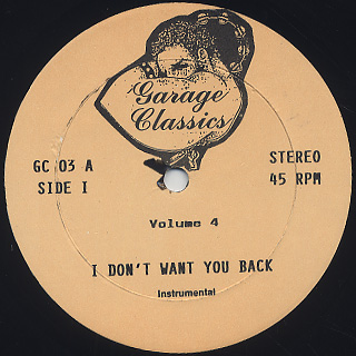 V.A. / Garage Classics (Volume 4) back