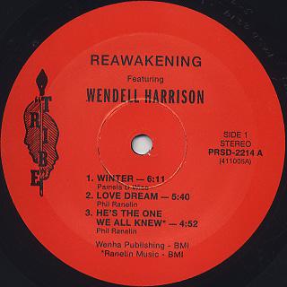 Wendell Harrison / Reawakening label