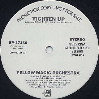 Yellow Magic Orchestra / Tighten Up front
