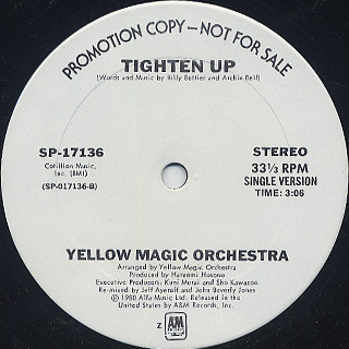 Yellow Magic Orchestra / Tighten Up back