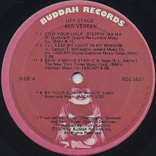 Ben Vereen / Off-Stage label