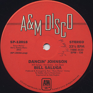 Bill Saluga / Dancin' Johnson (Disco Version) back