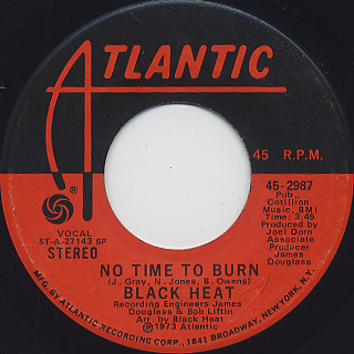 Black Heat / No Time To Burn c/w Super Cool front