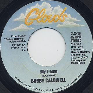 Bobby Caldwell / My Flame c/w Love Won't Wait