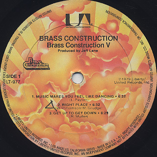 Brass Construction / 5 label