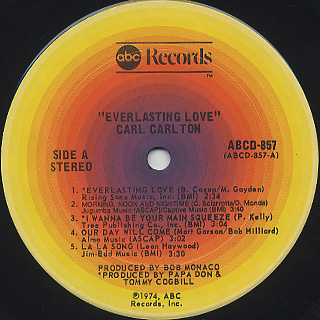 Carl Carlton / Everlasting Love label