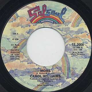 Carol Williams / More c/w More Of More (Disco Version)