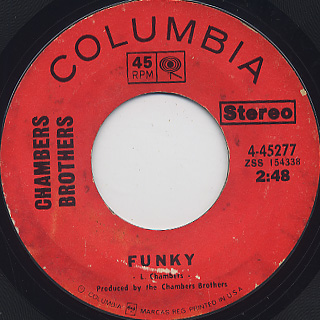 Chambers Brothers / Funky c/w Love, Peace And Happiness