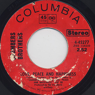 Chambers Brothers / Funky c/w Love, Peace And Happiness back