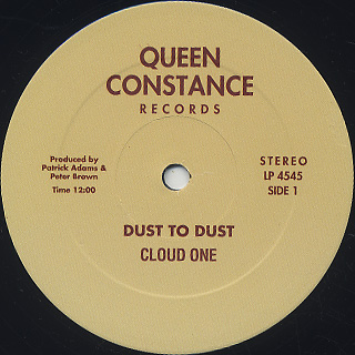 Cloud One / Dust To Dust c/w Doin' It All Night Long front