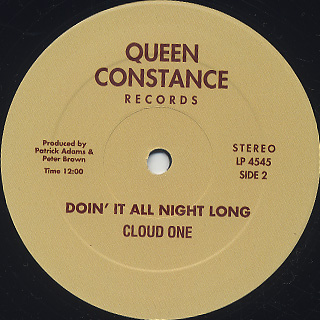 Cloud One / Dust To Dust c/w Doin' It All Night Long back