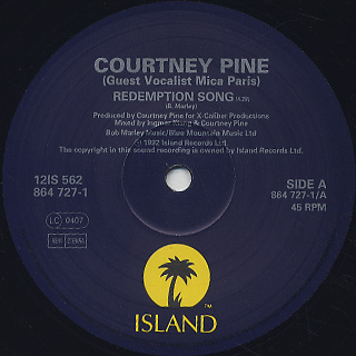 Courtney Pine / Redemption Song label