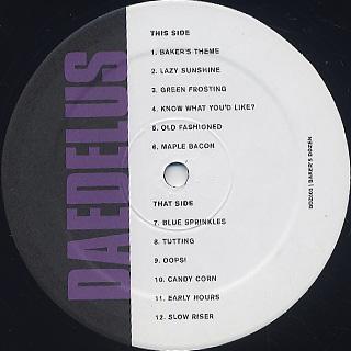 Daedelus / Baker's Dozen label