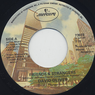 David Oliver / Friends & Strangers c/w Ms