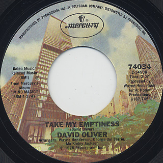 David Oliver / Houesewives Are People Too c/w Take My Emptiness back