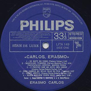 Erasmo Carlos / Carlos, Erasmo... label