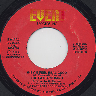 Fatback Band / (Hey I) Feel Real Good front