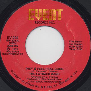 Fatback Band / (Hey I) Feel Real Good