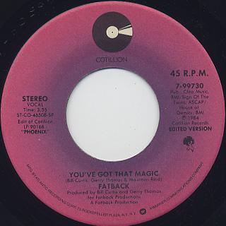 Fatback / You've Got That Magic (45)