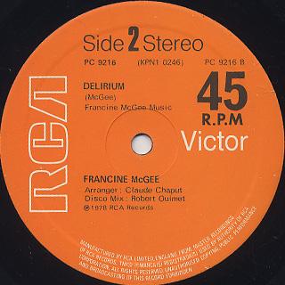 Francine McGee / Feelin' Good label