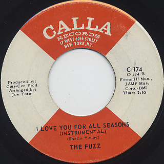 Fuzz / I Love You For All Seasons c/w (Instrumental) back