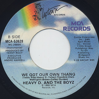 Heavy D And The Boyz / We Got Our Own Thang back