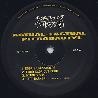 Homeboy Sandman / Actual Factual Pterodactyl label