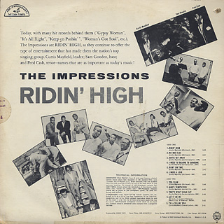 Impressions / Ridin' High back