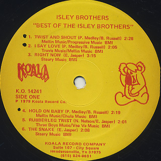 Isley Brothers / Best Of The Isley Brothers label