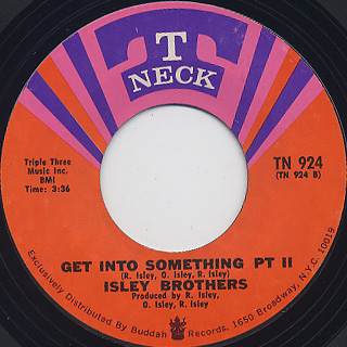 Isley Brothers / Get Into Something c/w Part II back