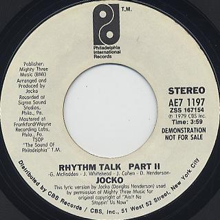 Jocko / Rhythm Talk back