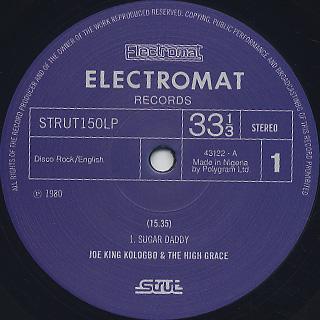 Joe King Kologbo & The High Grace / Sugar Daddy label
