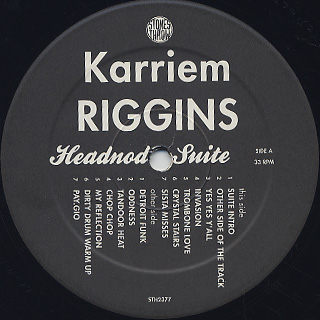 Karriem Riggins / Headnod Suite label