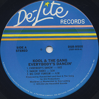 Kool and The Gang / Everybody's Dancin' label