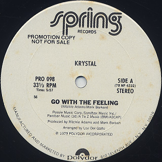 Krystal / Go With The Feeling back