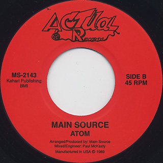 Main Source / Think c/w Atom back