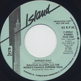 Malcolm McLaren and The World's Famous Supreme Team / Buffalo Gals back
