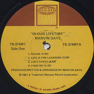 Marvin Gaye / In Our Lifetime label
