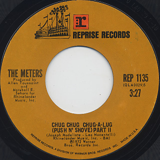 Meters / Chug Chug Chug-A-Lug (Push N' Shove) Part I c/w Part II back