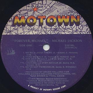 Michael Jackson / Forever, Michael label