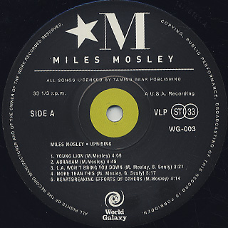 Miles Mosley / Uprising label