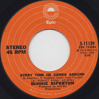 Minnie Riperton / Reasons c/w Every Time He Comes Around back